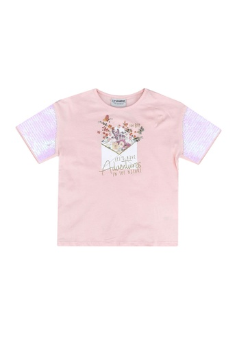 LC Waikiki pink Double-Sided Sequins T-Shirt E0C95KAAAEFC1EGS_1