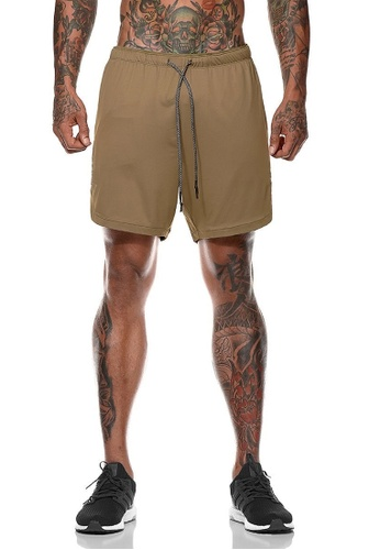 Twenty Eight Shoes brown VANSA  Casual Double Layer Sports Shorts VCM-St063 26145AAF9763EAGS_1