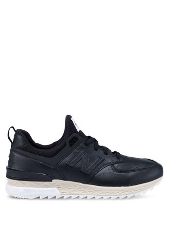 New Balance black 574 Lifestyle Shoes B7071SH59D2CD2GS_1