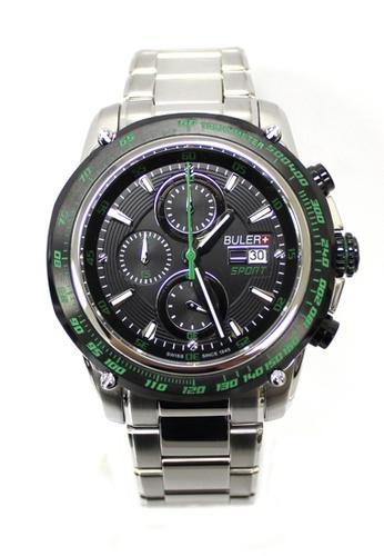 Buler black and silver Buler Sport Watch - Black - Gents - Date - 6H BU689AC2VG17HK_1