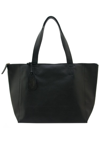 The Tannery Manila black Hannah with Zipper,Genuine Leather Nappa Bag TH690AC0ITVUPH_1