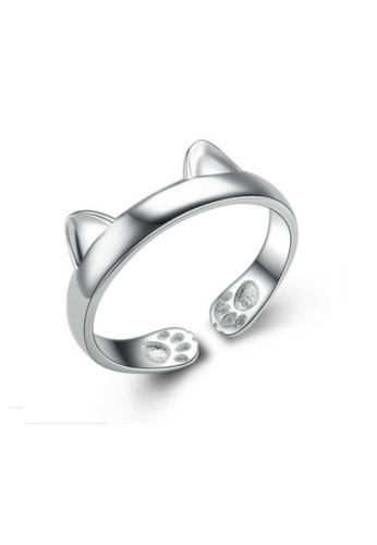 Vivere Rosse silver Purrfect Ring - Silver VI014AC02SMVMY_1