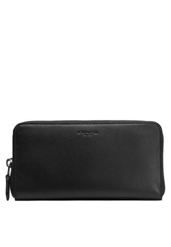 Coach black Accordion Zip Wallet (cv) C7910AC255D841GS_1