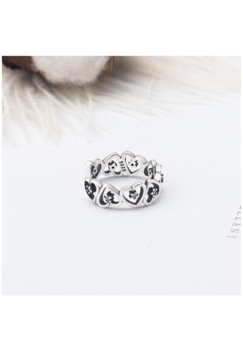 OrBeing 白色 Premium S925 Sliver Geometric Ring A73BBAC2CA29B4GS_1