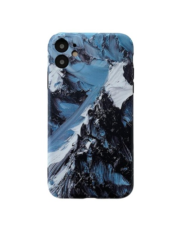 Kings Collection blue Oil painting Snow Mountain iPhone 12 Pro Case (KCMCL2120) 30B7FACF60019AGS_1