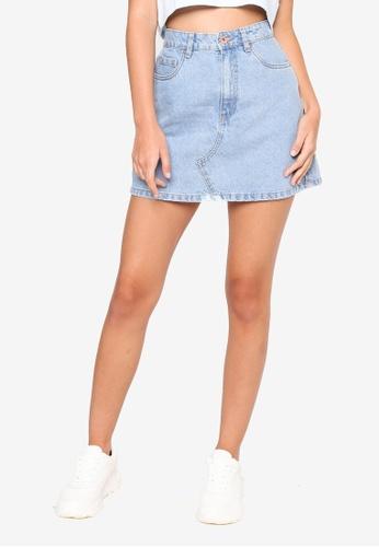 Cotton On blue The Classic Denim Skirt 86F3DAAA1D25EFGS_1