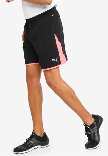 PUMA black Last Lap Colour-blocked Men's Training Shorts D8B7CAA3A773EEGS_1