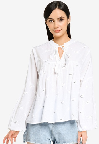 ONLY white Elisa Life Blouse 24402AAB1A564BGS_1