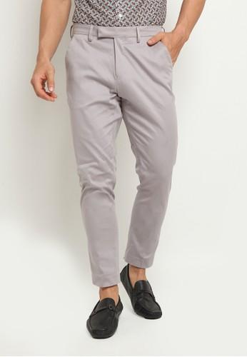 The Executive grey Slim Fit Formal Pants 0324DAAC044D94GS_1