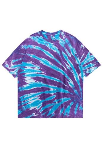 Twenty Eight Shoes Irregular Spiral Tied-Dye Short T-shirt 1227S20 644F2AA225724BGS_1