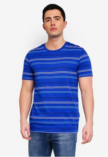 Jack & Jones blue Jorkelvin Stripe Tee 9A73BAA691D958GS_1
