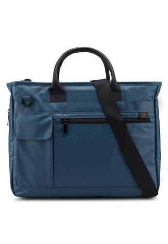 Bagstationz blue Premium Nylon 2-Way Laptop Bag 3FB7CACBE00F46GS_1