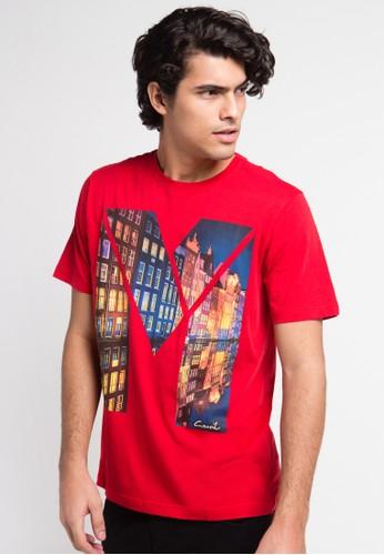 CARVIL red Tshirt Man Print Amsterdam CA566AA0UGXEID_1