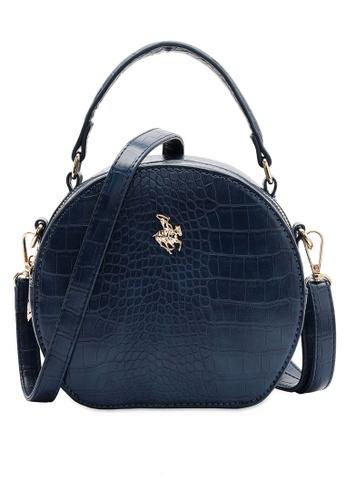 Swiss Polo blue Croc Top Handle Sling Bag F1102ACA4F63EFGS_1