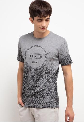 Country Fiesta grey Men'S Tshirt Young 62064AAE86E5C7GS_1