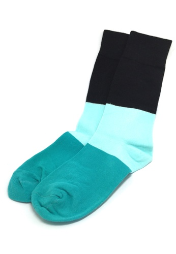 Splice Cufflinks multi Zone Series Green, Baby Blue and Black Socks SP744AA52JCHSG_1
