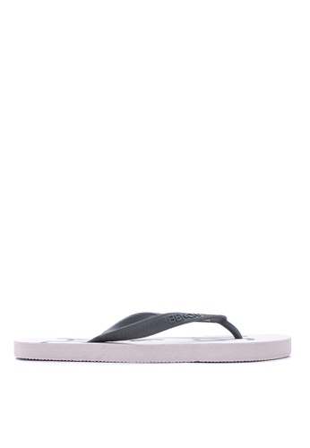 BENCH white Basic Rubber Slippers BE550SH01MBMPH_1