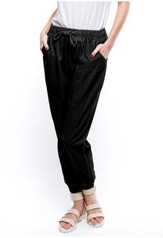 harga WMN Camille Black Jeans Joger Pants Zalora.co.id
