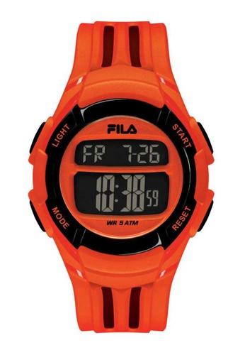 FILA Watches orange Fila Digital Black and Orange Rubber Watch 93BBCAC06F1770GS_1