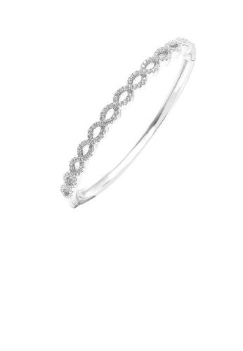 Glamorousky silver 925 Sterling Silver with White Cubic Zircon Bangle E1E8FACADEAD7AGS_1