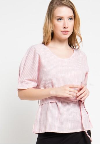 Raspberry pink Jasmine Printed Blouse RA572AA20AKTID_1