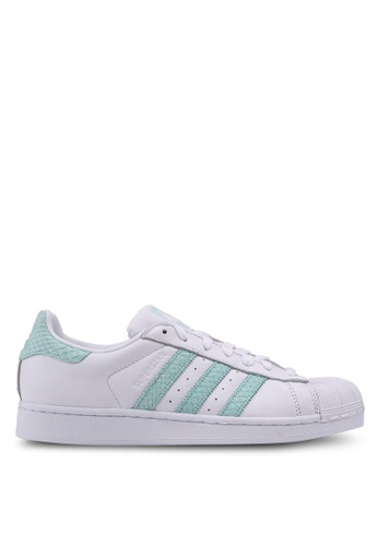 adidas white adidas originals superstar w AD372SH0SUVIMY_1