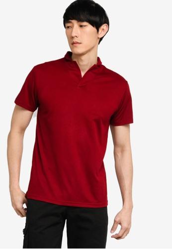 ZALORA BASICS red Revere Collar Polo Shirt 137E6AAECF2375GS_1