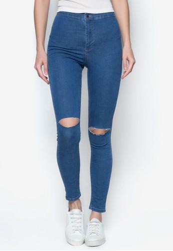 MOTO 藍色刷破 Jonzalora taiwan 時尚購物網鞋子i 牛仔褲, 服飾, 服飾