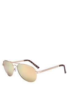e8e68d0d8d Maisie Chain Arm Gold Revo Lense Aviator Sunglasses River Island ...
