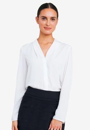 FORCAST white Lilian Long Sleeve Blouse 3A13AAAB0EE1C0GS_1