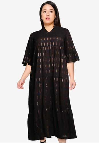 Vero Moda black Plus Size Morro Maxi Dress ABB70AA6E94F61GS_1