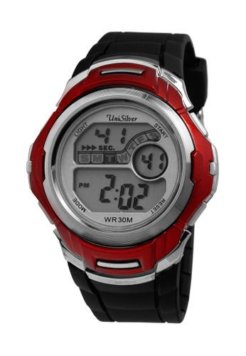 UniSilver TIME black and red Nucleon Men's  Digital Rubber Strap Watch KW2208-1005 UN802AC37OGGPH_1