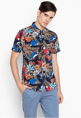 fcacdfa3 Shop Mick + Marty Tropical Print Short Sleeve Shirt Online on ZALORA  Philippines