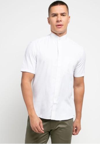 LORIENT white Lorient Short Sleeves Herring Slim Shanghai Collar 8D215AA5ECEF75GS_1