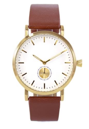 LEUPP brown Kaoru Watch ECC41ACBC08B74GS_1
