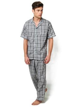 Akira Plaid Checkered Pajama Set (Grey)