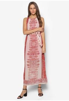 Petite Paisley Metallic Maxi Dress