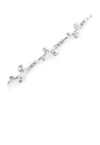 Glamorousky silver Gracious Bracelet with Silver Austrian Element Crystals 7EABFAC25FA730GS_1