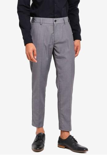 Sparrow Green grey Waytt II Tapered Elastic Waist Pants 9D76EAA001395AGS_1