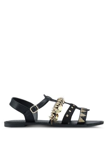 VINCCI black Strappy Sandals 928A8SHA20B26DGS_1