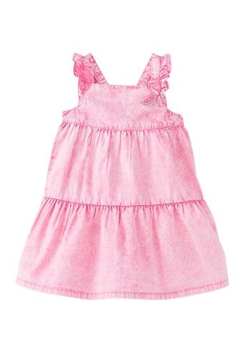 Du Pareil Au Même (DPAM) pink Plain Sleeveless Dress C76AAKA0343C40GS_1