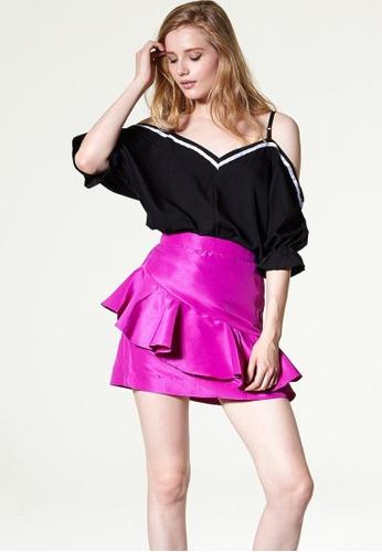 Storets pink Lara Bloom Ruffled Skirt ST450AA0GNUSSG_1