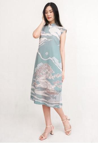 ESYE green Clove Cheongsam Dress Green 9D8C5AAC365301GS_1