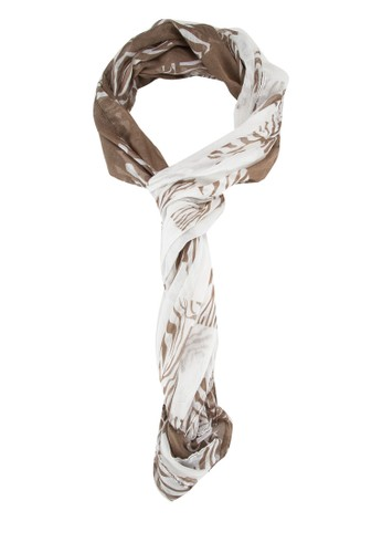 斑馬印花圍巾, 飾esprit tst品配件, 披肩