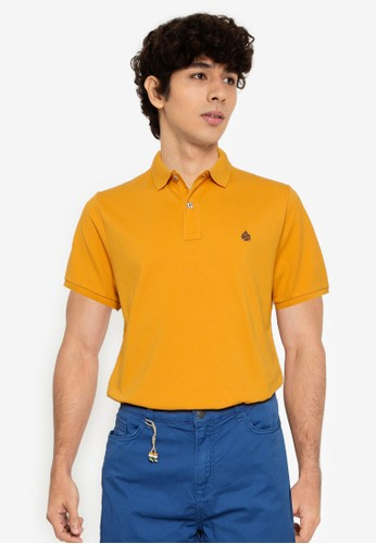 Springfield orange Slim Fit Pique Polo Shirt 683C1AAA6AA2E4GS_1
