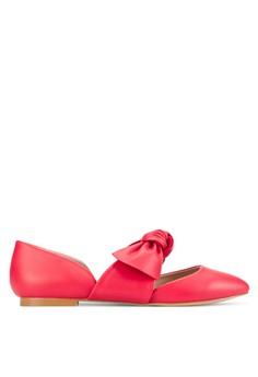 【ZALORA】 蝴蝶結飾平底鞋