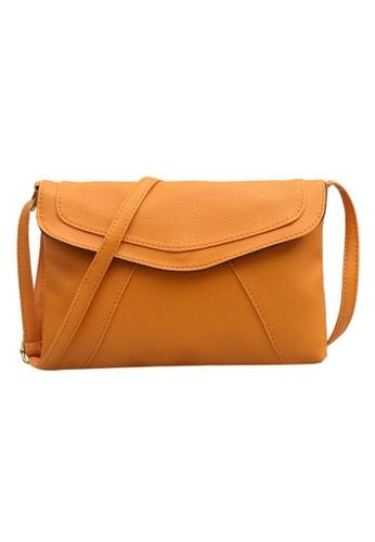 8eac495cbb Jackbox brown Korean Casual PU Leather Candy Colour Envelope Design Sling  Bag 339 (Light Brown