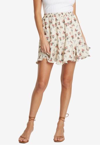 Sável beige Elouise Mini Skirt 89028AAB09E718GS_1
