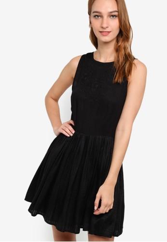 WV Teagan 刺zalora鞋子評價繡無袖洋裝, 服飾, 洋裝
