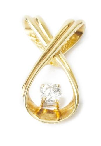 CEBUANA LHUILLIER JEWELRY gold 14 Karat Yellow Gold Pendant With Diamond D723BACAC8CB5CGS_1